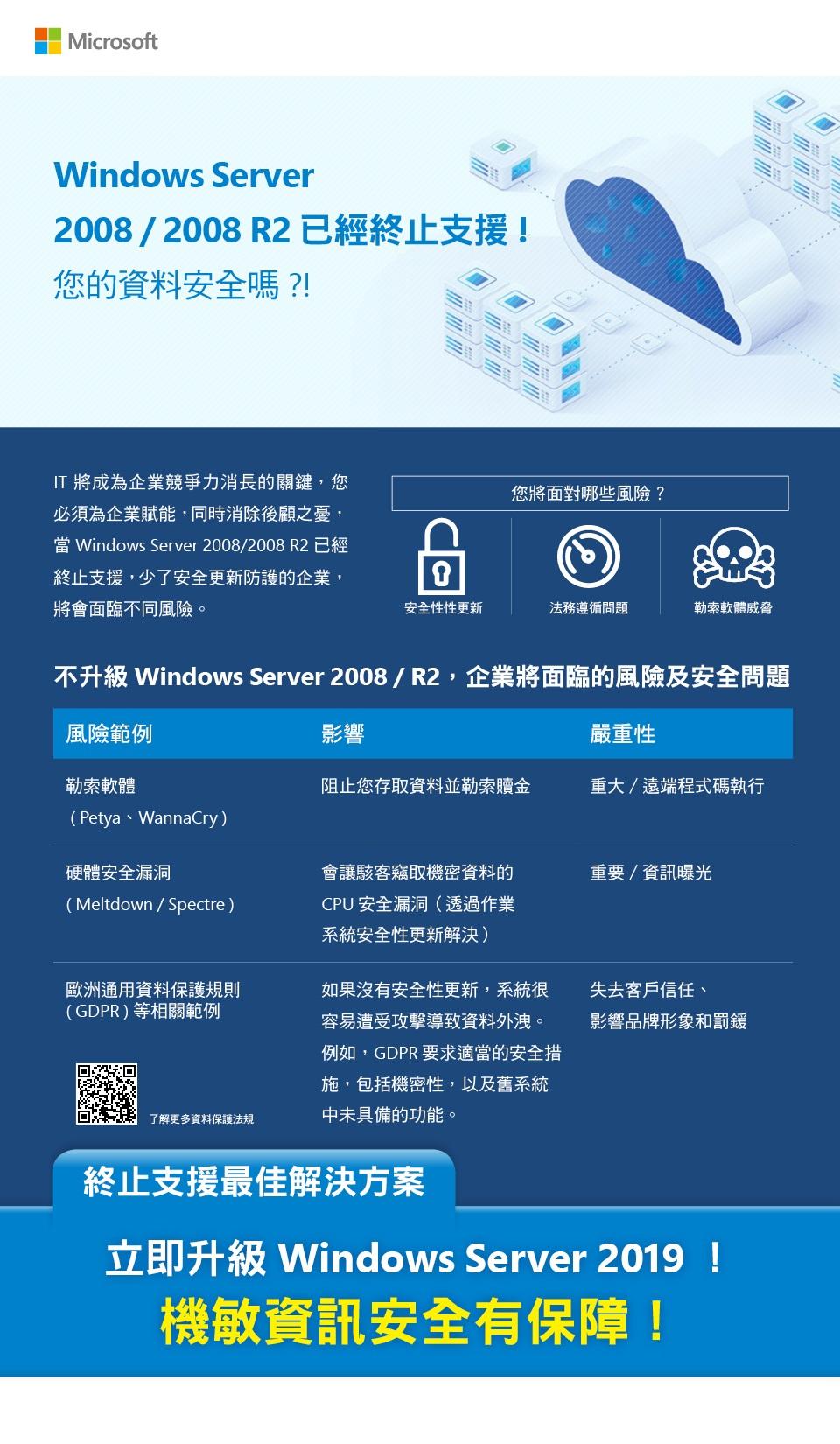 Windows Server 2019 - Windows Server 2008 & 2008R2停止支援